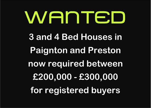 WANTED HOUSES